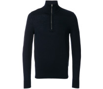 roll-neck zip sweater