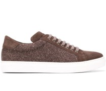 Sneakers mit gewebtem Muster