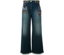 - Jeans mit weitem Bein - women