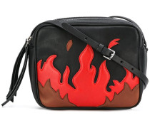 flame pattern crossbody bag