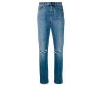 Boyfriend-Jeans in Distressed-Optik - women