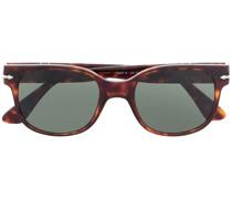 Breite Sonnenbrille in Schildpattoptik