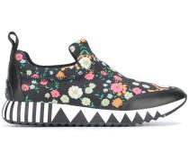 Slip-On-Sneakers mit Blumen-Print