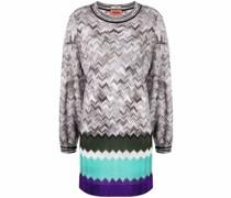 Pulloverkleid mit Zickzackmuster