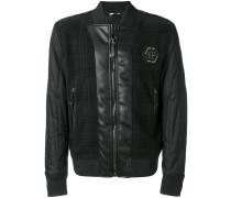 tartan design bomber jacket