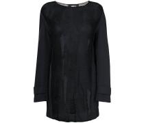 sheer coat sleeve sweater