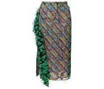 Seidenrock mit diagonalen Streifen
