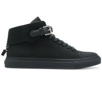 buckled hi-top sneakers
