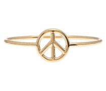Schmaler Goldring mit Peace-Zeichen
