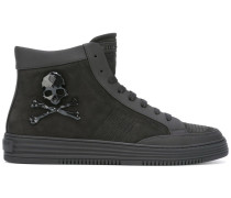High-Top-Sneakers mit Totenkopf-Print