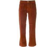 Cropped-Hose aus Baumwollgemisch