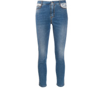 Taillenhohe Cropped-Jeans