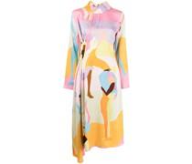 Asymmetrisches Kleid mit Dance-Print