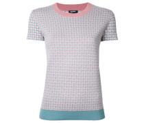 short sleeved intarsia jumper