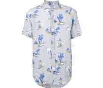 Hemd mit Print - men - Leinen/Flachs - XL
