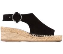 buckled espadrille sandals - women