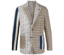 contrast-panel blazer