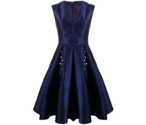 Jacquard-Kleid mit V-Ausschnitt
