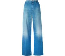 Halbhohe Jeans mit weitem Bein - women