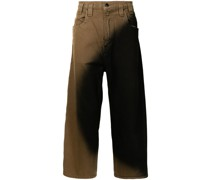 Gerade Jeans mit Circle Stain-Waschung