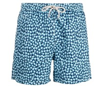 palm tree-print swim shorts