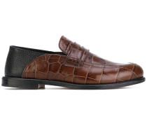 Penny-Loafer mit Krokodilledereffekt - women
