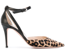 Pumps mit Leoparden-Print