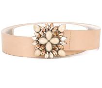 - embellished buckle belt - women - Leder/glass