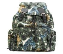 Beasts print gabardine backpack