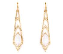 Lange 'Crystal Haze' Ohrringe aus Gelbgold und Diamanten