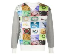 Sweatshirt mit Stromkabel-Print