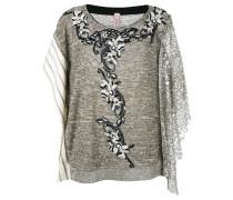 Pullover mit floraler Verzierung