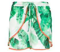foliage print shorts