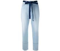 Jeans mit hohem Bund - women - Baumwolle - 38