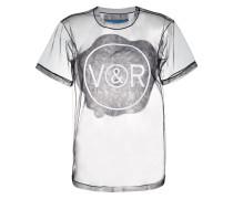 T-Shirt mit Tüllsaum