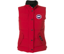 logo patch padded gilet