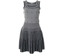 fitted stripe knit dress