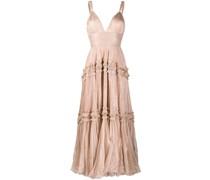 Gerüschtes Kleid mit Falten