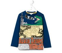 Langarmshirt mit Comic-Print - kids - Baumwolle