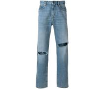 slashed detail jeans