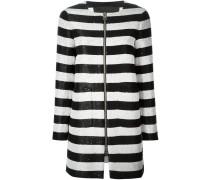 Mantel mit Pailletten und Streifen