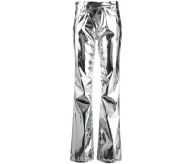 Hose im Metallic-Look