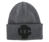 embroidered logo ski knit hat - men - Wolle
