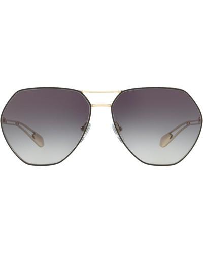 Sonnenbrille mit sechseckigen Gläsern