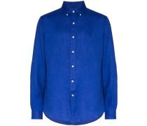 Button-down-Hemd aus Leinen