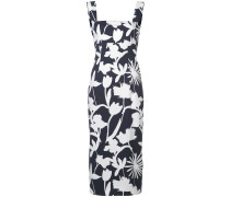fitted print dress