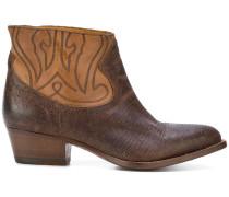 Cowboy-Stiefel mit niedrigem Blockabsatz
