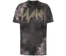 Batik-T-Shirt mit Distressed-Optik