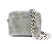 embellished zipped satchel bag