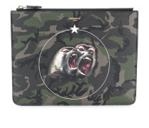 Monkey Brothers camouflage clutch